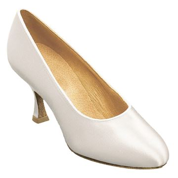 Obrazek 107A Bora | White Satin | Standard Ballroom Dance Shoes | Sale