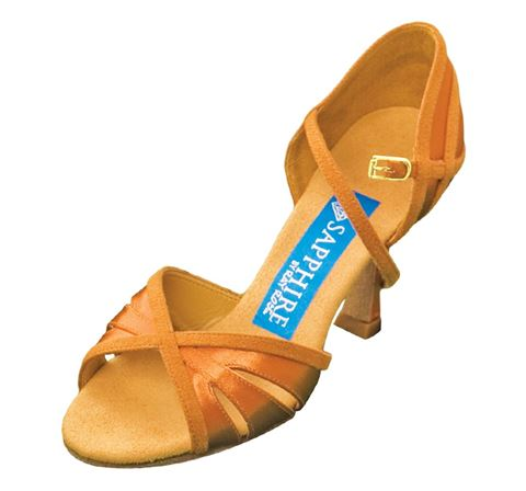 Picture of Moonshine | L. Tan Satin & Tan Suede | Sale