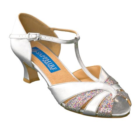 Picture of Camellia | Silver & Multi Coloured Glitter | Sale