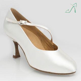 Bild von 116A Rockslide | White Satin | Standard Ballroom Dance Shoes