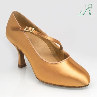 Picture of 117A Stratus | Flesh Satin | Standard Ballroom Dance Shoes