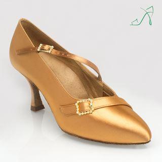 Bild von 129A Savannah | Flesh Satin | Standard Ballroom Dance Shoes