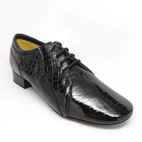 Obrazek 340 Ice | Black Crocodile Print Patent | Sale