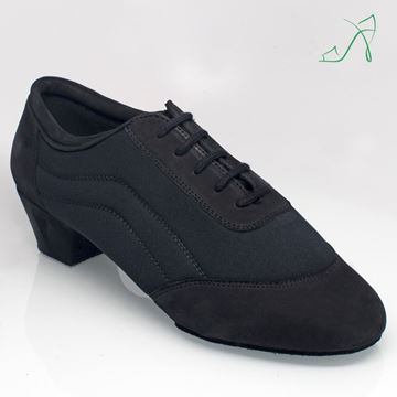 "Picture of 465 Halo | Black Nubuck/Lycra 1.5"" Contour Heel 