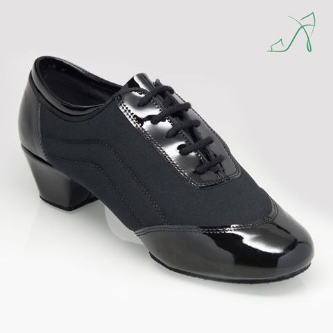 "Picture of 465 Halo | Black Patent/Lycra 1.5"" Contour Heel 