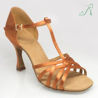 Picture of H860T-X Atlas Xtra | Light Tan Satin | Ladies Latin Dance Shoes | Sale