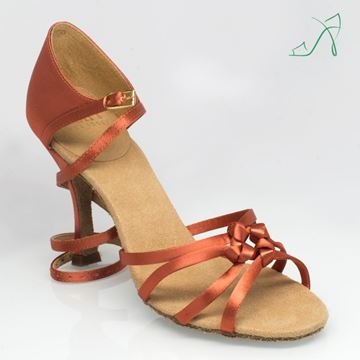 "Imagen de 820 Blizzard | ULTRA-FLEX | Dark Tan Satin | 3.2"" Slim Heel 