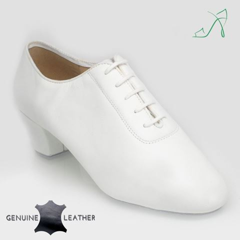 Imagen de 460 Thunder | White Leather | Men's Latin Dance Shoe | Sale