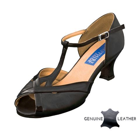 Bild von Azalea | Black Leather/Black Patent | Sale