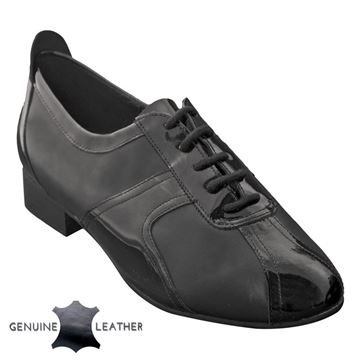 Obrazek Elm | Black Leather & Black Patent | Sale