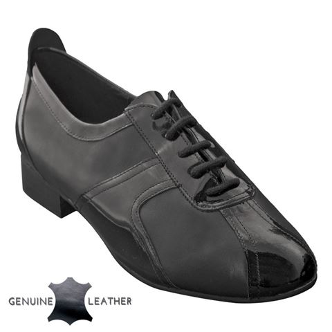 Picture of Elm | Black Leather & Black Patent | Sale