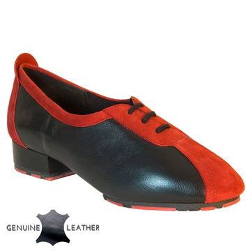 Obrazek P111 Black Leather/Red Suede - Star Sole | Sale