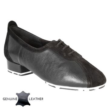 Picture of P111 Black Leather/Suede - Star Sole | Sale