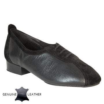 Obrazek P111 Black Leather/Suede - Suede Sole | Sale