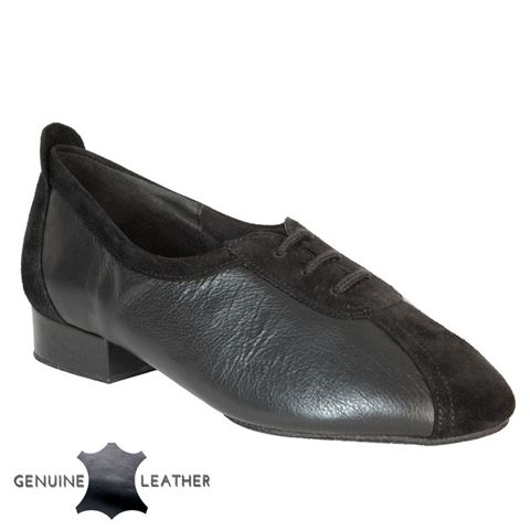 Picture of P111 Black Leather/Suede - Suede Sole | Sale