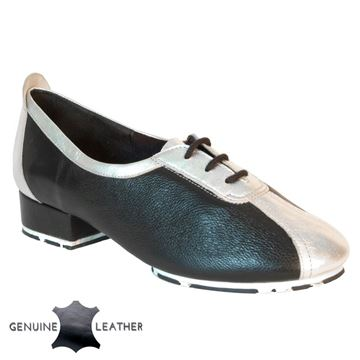 Picture of P111 Black/Silver Leather - Star Sole | Sale