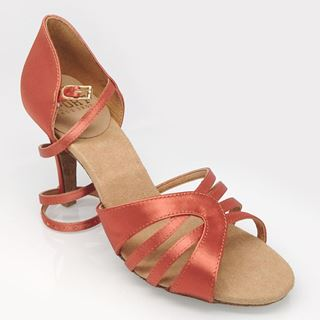 Obrazek 895-X Eris Xtra | Dark Tan Satin | Latin Dance Shoes