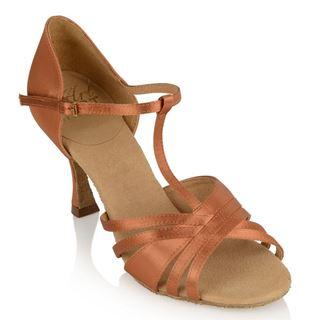 Picture of 816-X Medusa Xtra | Light Tan Satin | Ladies Latin Dance Shoes