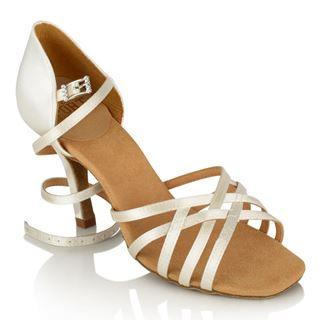 Obrazek H860-X Kalahari Xtra | White Satin | Ladies Latin Dance Shoes