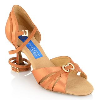 Picture of Ursa - Light Tan Satin/Tan Suede