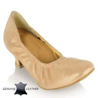 Picture of 112 Ans | Flesh Lustre Leather | Standard Ballroom Dance Shoes