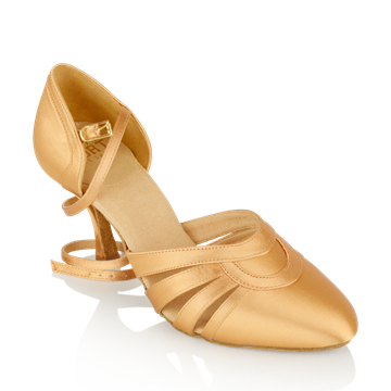 Picture of 104 Nevada | Flesh Satin | Smooth Dance Shoes