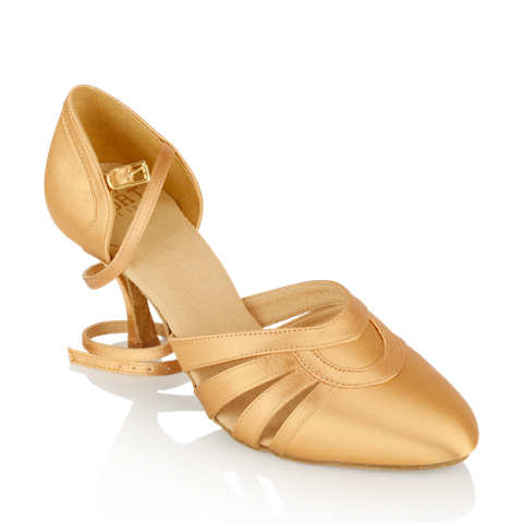 Immagine di 104 Nevada | Flesh Satin | Smooth Dance Shoes