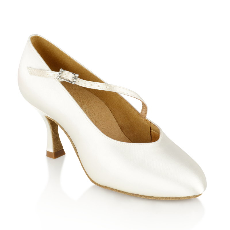 2d37ec534 Bild von 116A Rockslide | White Satin | Standard Ballroom Dance Shoes