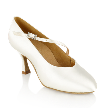 Obrazek 116A Rockslide | White Satin | Standard Ballroom Dance Shoes