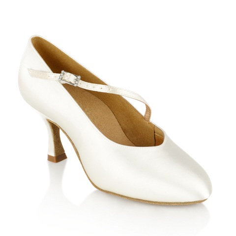 Immagine di 116A Rockslide | White Satin | Standard Ballroom Dance Shoes