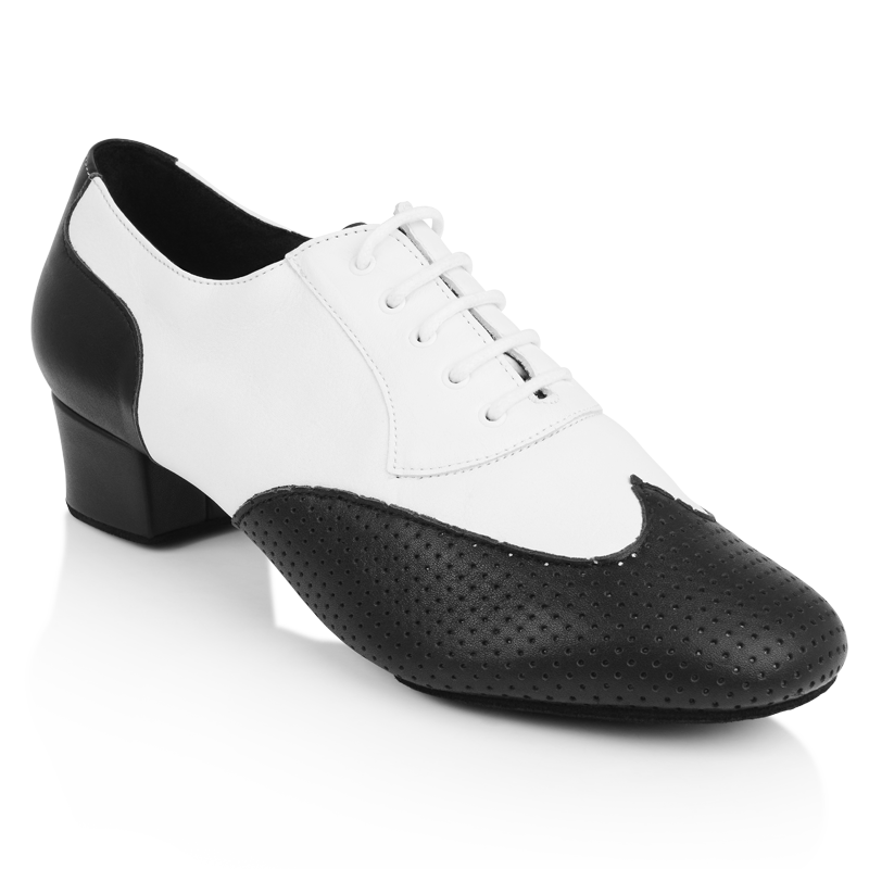 718eb4f6ae37 Picture of 318 Adolfo Black   White Leather
