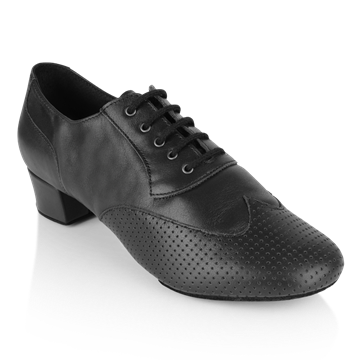Bild von 318 Adolfo Black Leather | Salsa Dance Shoes | Sale