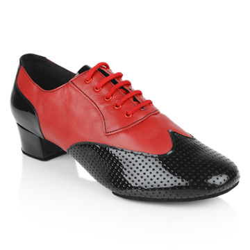 Immagine di 318 Adolfo Black Patent & Red Leather | Latin Dance Shoes | Sale