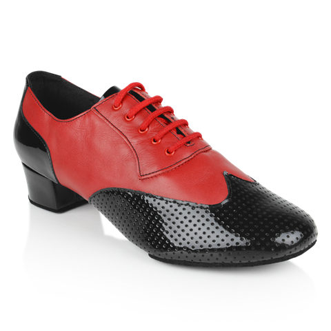 Picture of 318 Adolfo Black Patent & Red Leather | Latin Dance Shoes | Sale