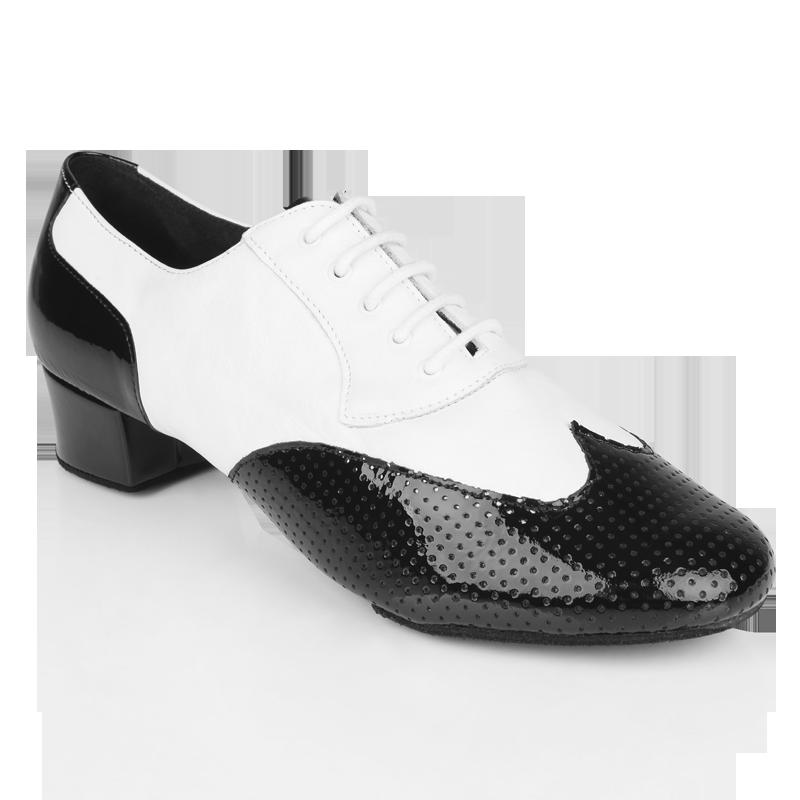 318 Adolfo Black Patent \u0026 White Leather