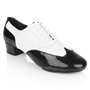 Bild von 318 Adolfo Black Patent & White Leather  | Salsa Dance Shoes