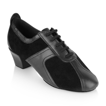 Obrazek 410 Breeze | Black Suede/Black Leather | Practice Dance Shoes