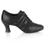 Obrazek 418 Tiber | Black Croc Leather/Black Mesh