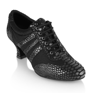 Picture of 418 Tiber | Black Croc Leather/Black Mesh
