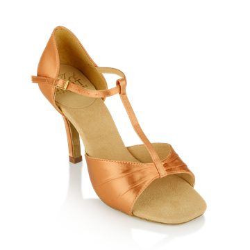 Imagen de H814-X Frost | Light Tan Satin | Ladies Latin Dance Shoes