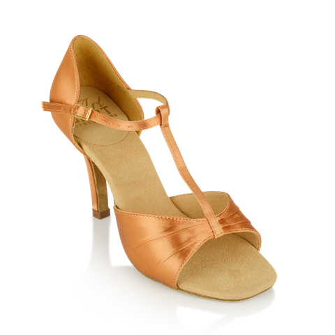 Obrazek H814-X Frost | Light Tan Satin | Ladies Latin Dance Shoes