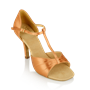 Picture of H814-X Frost | Light Tan Satin | Ladies Latin Dance Shoes