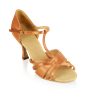 Imagen de 816-X Medusa Xtra | Light Tan Satin - Flared Heel | Ladies Latin Dance Shoes | Sale