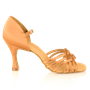 Immagine di H845-X Persephone Xtra | Light Tan Satin | Latin Dance Shoes