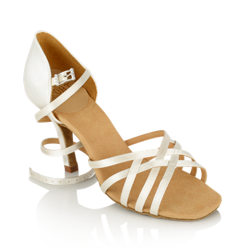 Imagen de H860-X Kalahari Xtra | White Satin | Ladies Latin Dance Shoes