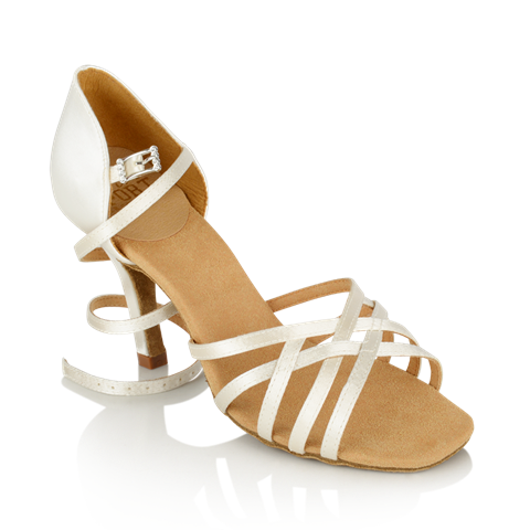 Picture of H860-X Kalahari Xtra | White Satin | Ladies Latin Dance Shoes