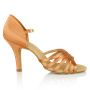 Imagen de 865-X Selene Xtra | Light Tan Satin  | Latin Dance Shoes