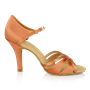 Picture of 884-X Aura Xtra | Dark Tan Satin  | Latin Dance Shoes