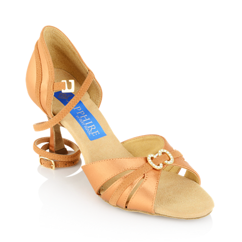 Picture of Ursa - Light Tan Satin/Tan Suede | Sale