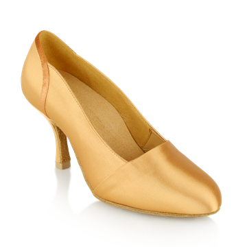 Imagen de 105A Tanami | Flesh Satin - Slim Heels | Standard Ballroom Dance Shoes | Sale